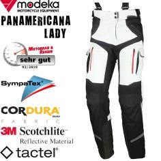 Modeka Damen Motorradhose PANAMERICANA LADY wasserdicht Sympatex Steppweste mit Protektoren