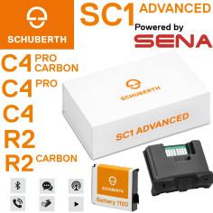 Schuberth Kommunikationssystem SC1 ADVANCED für C4 / C4 Pro / C4 Pro Carbon / R2 / R2 Carbon Helme mit UKW-Radio