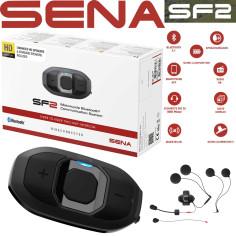 Sena Headset SF2 HD Motorrad Kommunikation Bluetooth 4.1 2-Wege Intercom mit HD-Lautsprecher