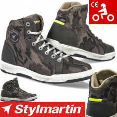 Stylmartin Motorradschuhe RAPTOR EVO Sneaker camouflage CE-geprüft wasserdicht mit Protektoren