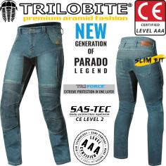 Trilobite Motorradjeans PARADO CIRCUIT für Herren CE AAA Aramid Hose Slim-Fit mit SAS-TEC Level 2 Protektoren