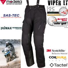 Modeka 2in1 Motorradhose VIPER LT für Herren 2-Lagen-Laminat Tactel Aramid mit SAS-TEC Protektoren